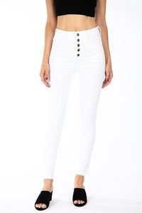 {High Rise White Jeans}