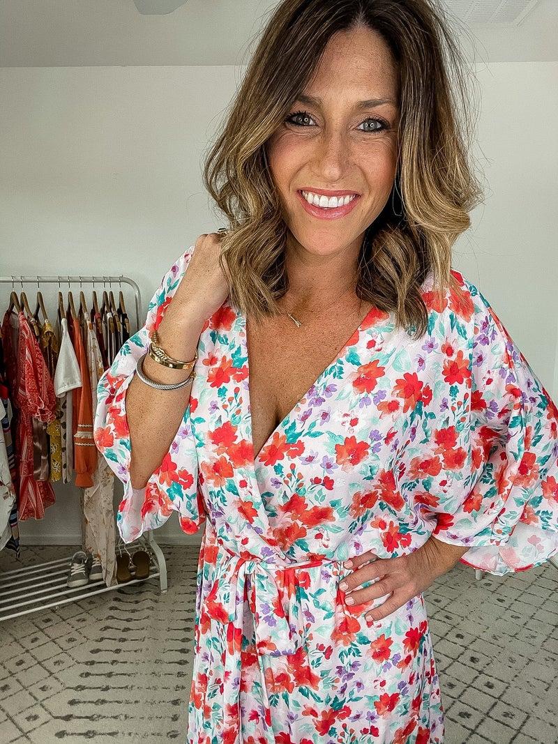 {Fab Floral Midi Dress}