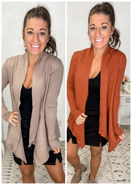 {Ribbed Draped Cardigan} *Final Sale*