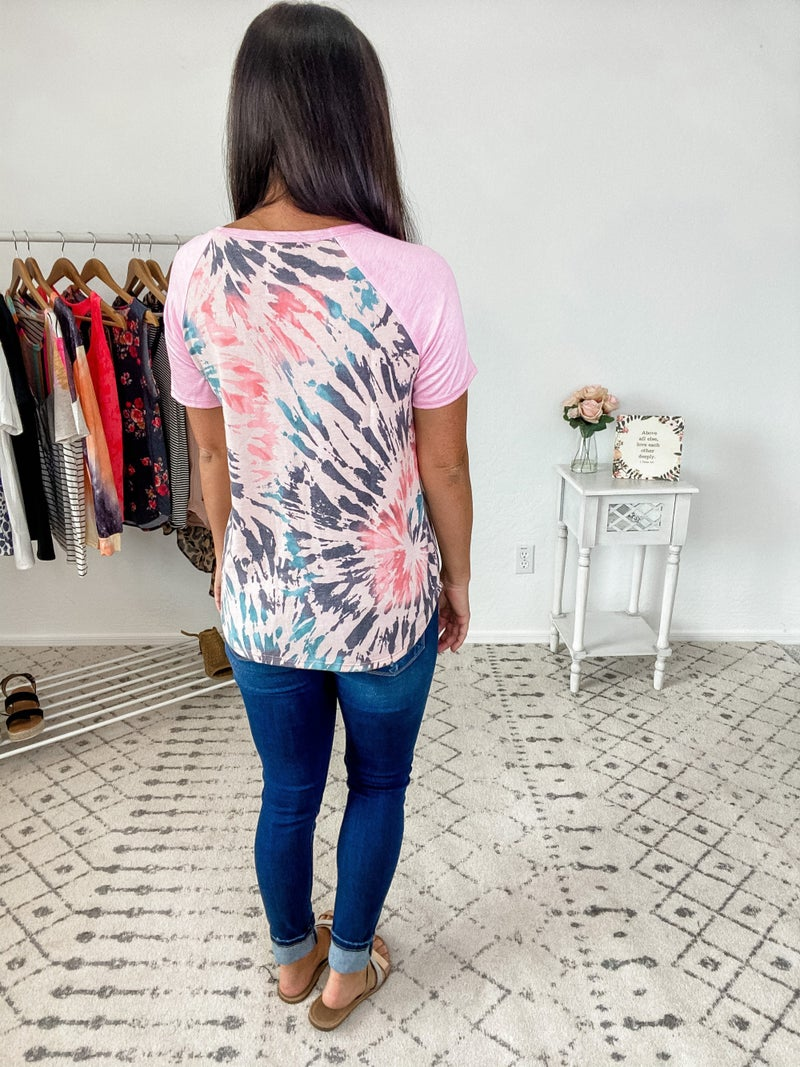 {French Terry Tie Dye Top} *Final Sale*