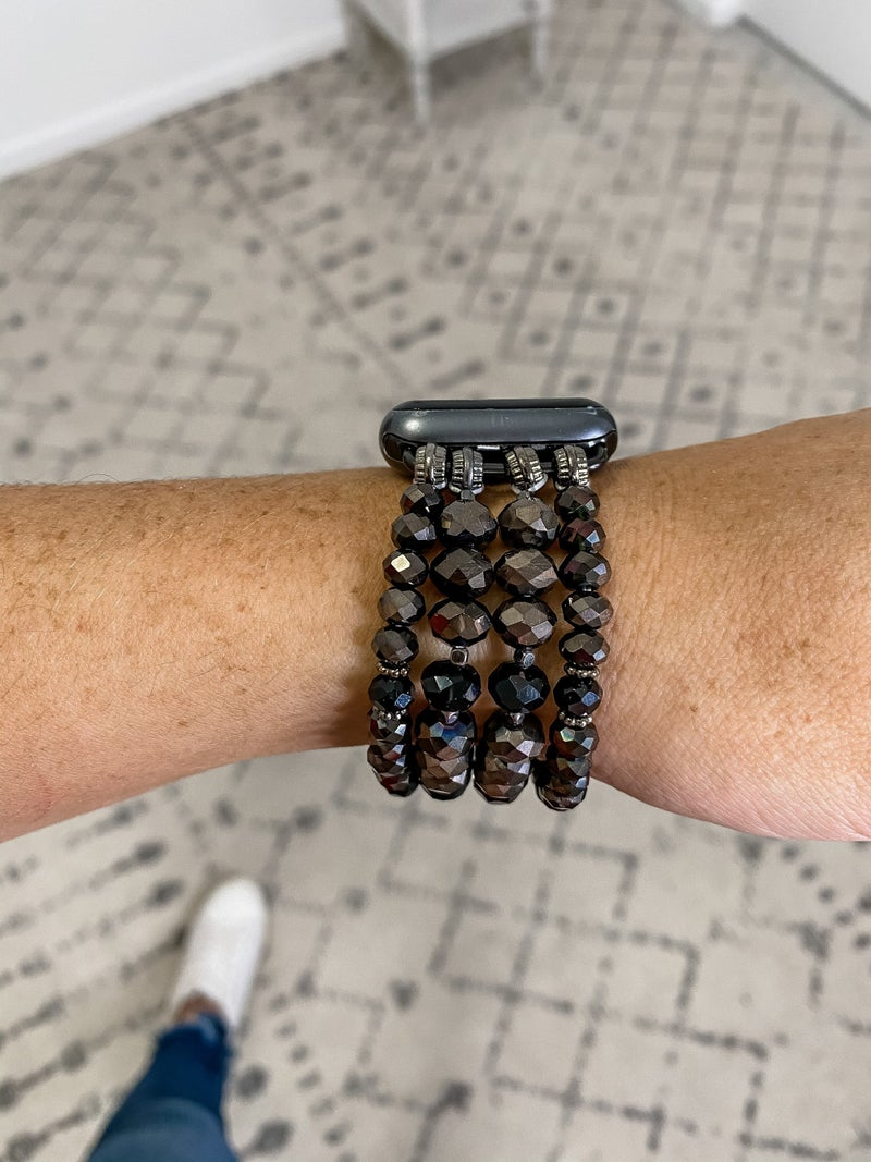 {Glass Bead iWatch Band}