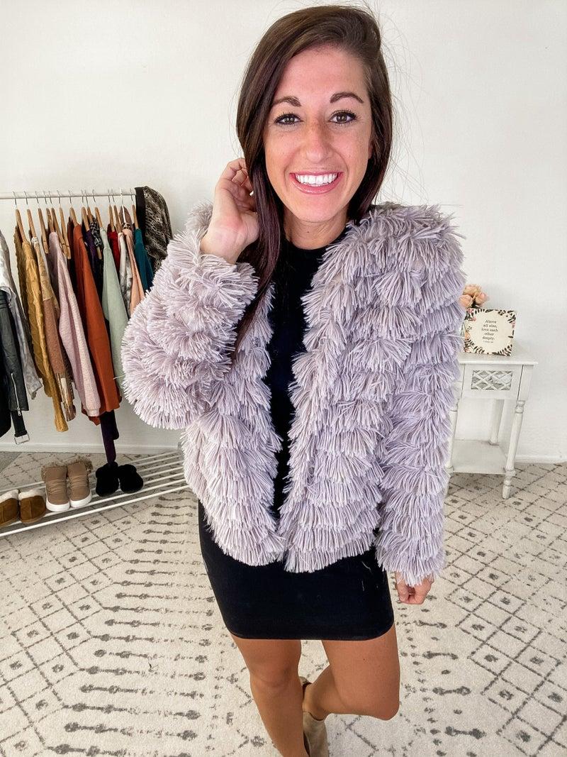 {Layered Fur Jacket}