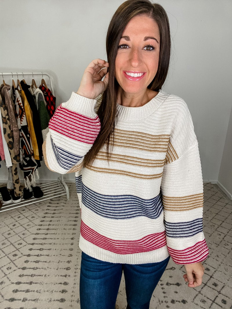 {Mixed Stripes Sweater} *Final Sale*