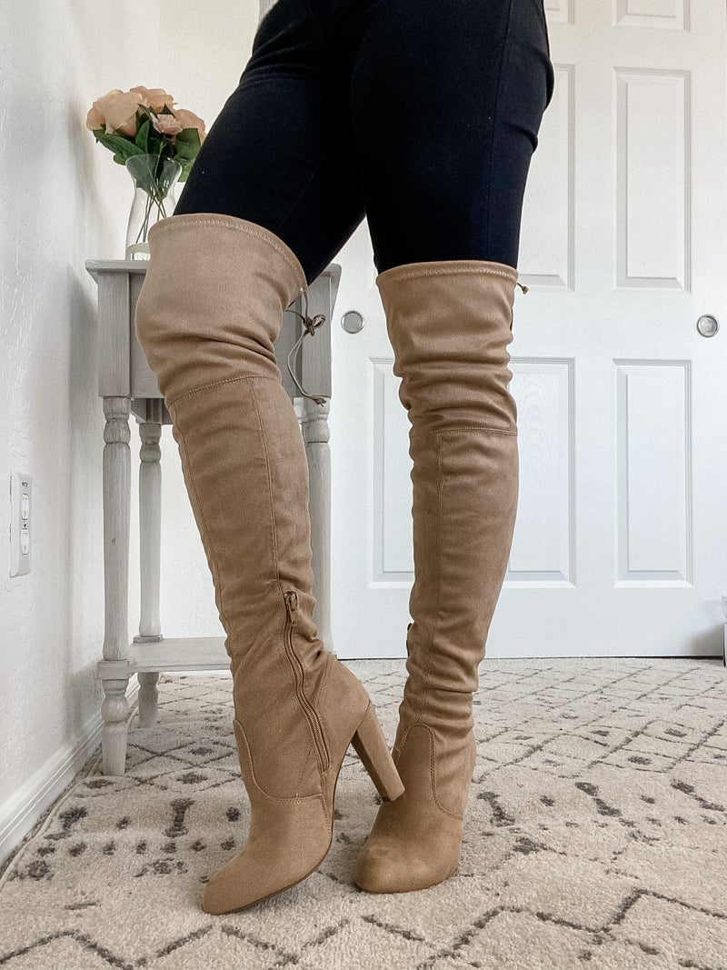 {Thigh High Lace Boots}