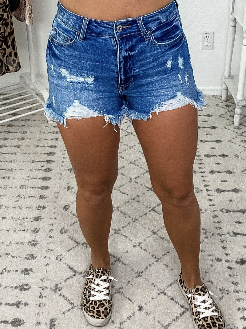 {Distressed Jean Shorts} *Final Sale*