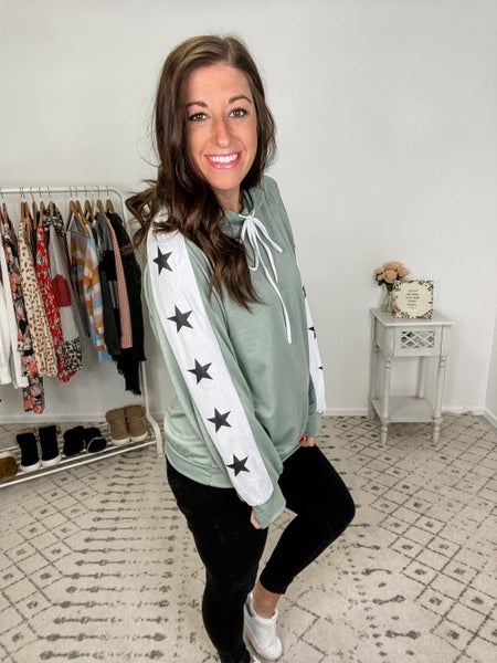 {Star Striped Hoodie} *Final Sale*