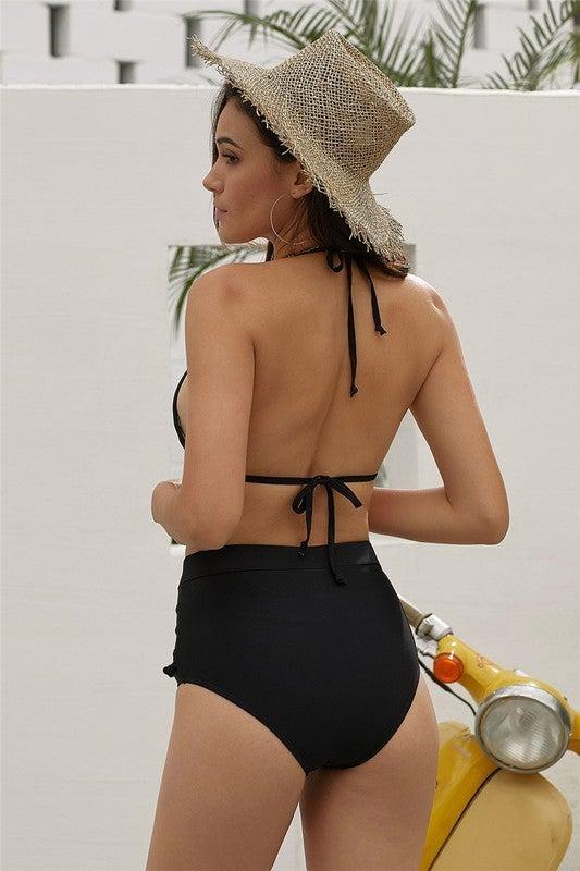 {PomPom Bombshell Black Bikini} *Final Sale*