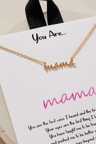 {Cursive Mama Necklace}