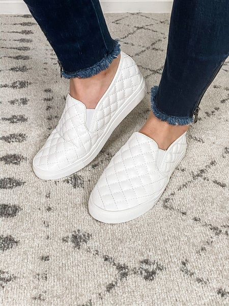 {White Slip Ons} *Final Sale*