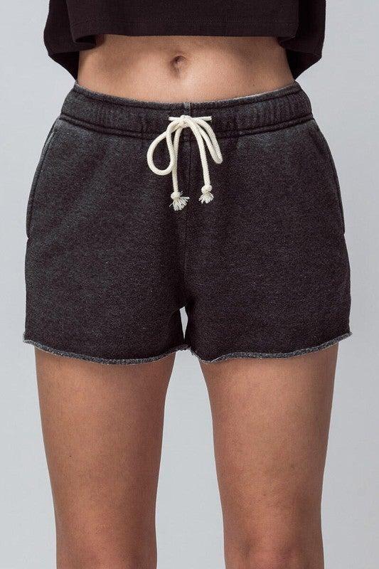 {Fleece Drawstring Shorts}