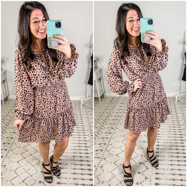 {Cheetah Mocha Dress}