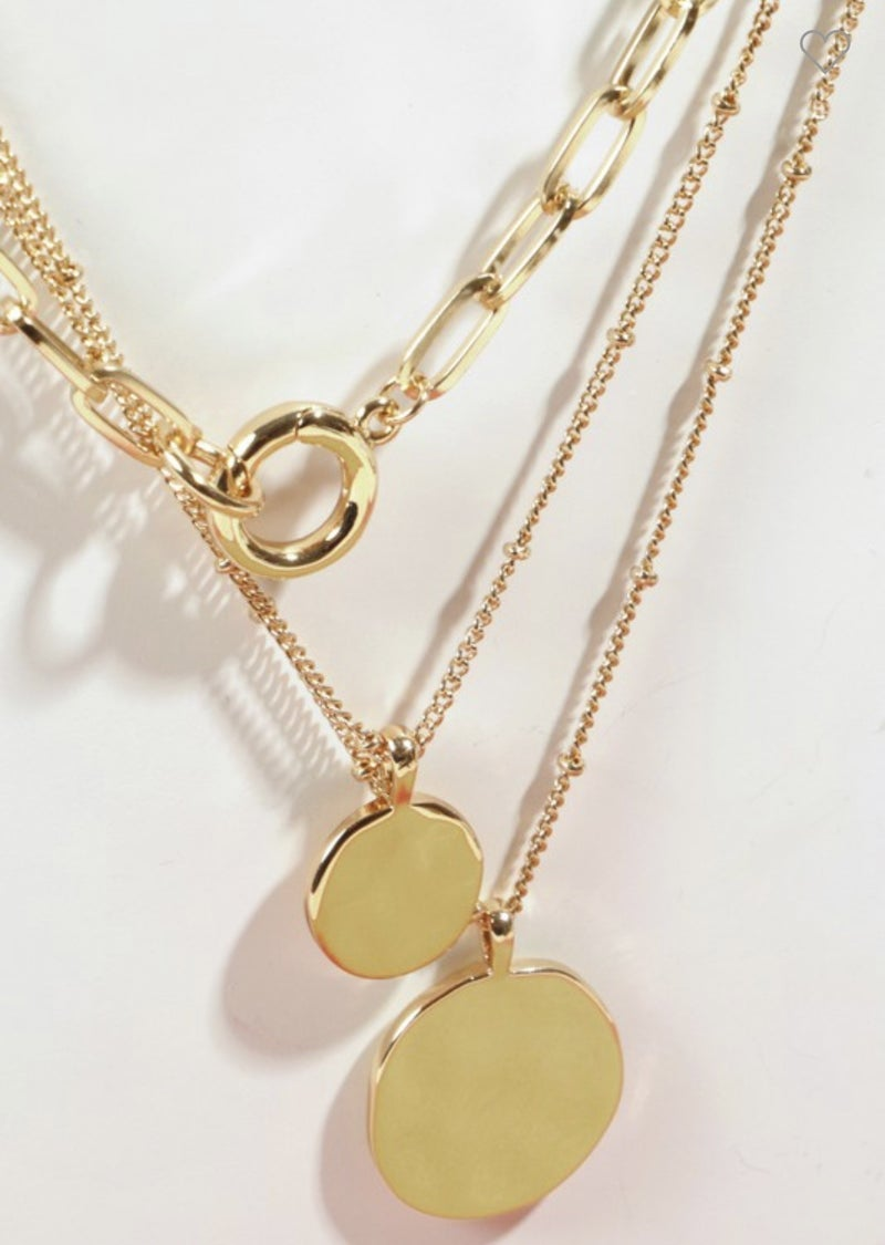 {Triple Layered Gold Chain}