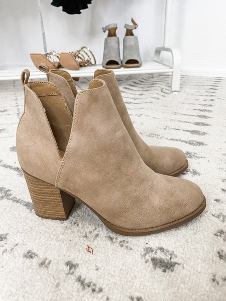 {Taupe Nubuck Booties} *Final Sale*