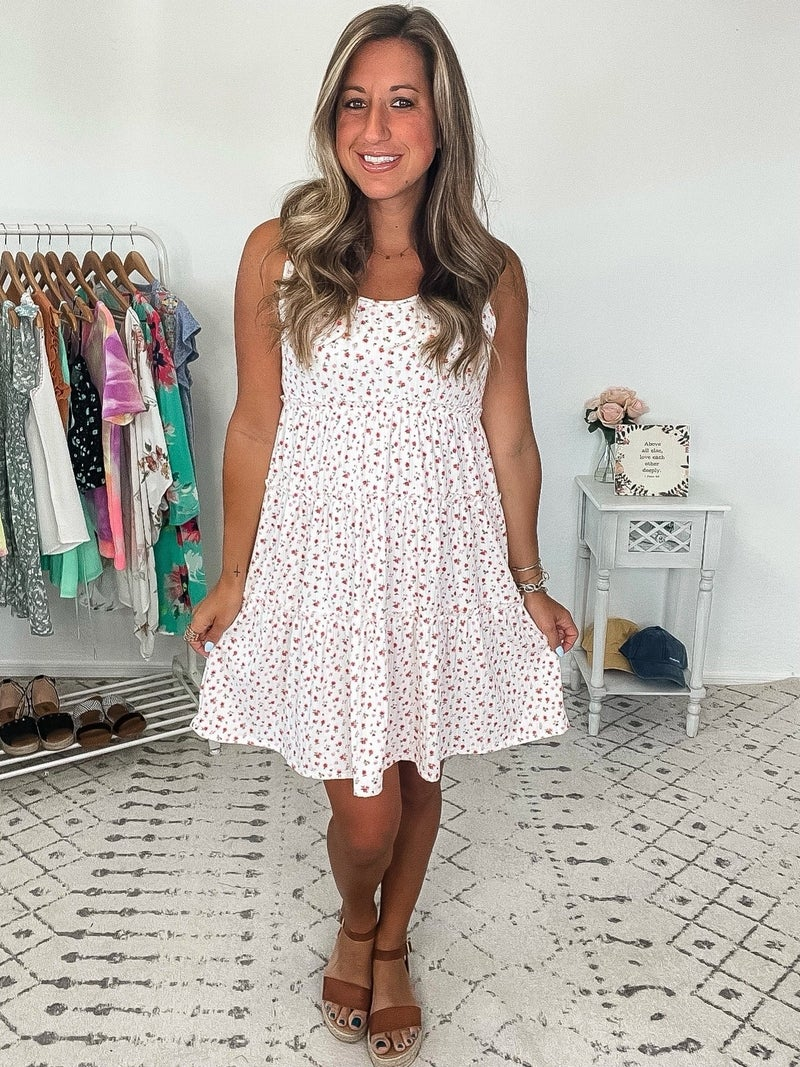 {3 Tiered Floral Dress}