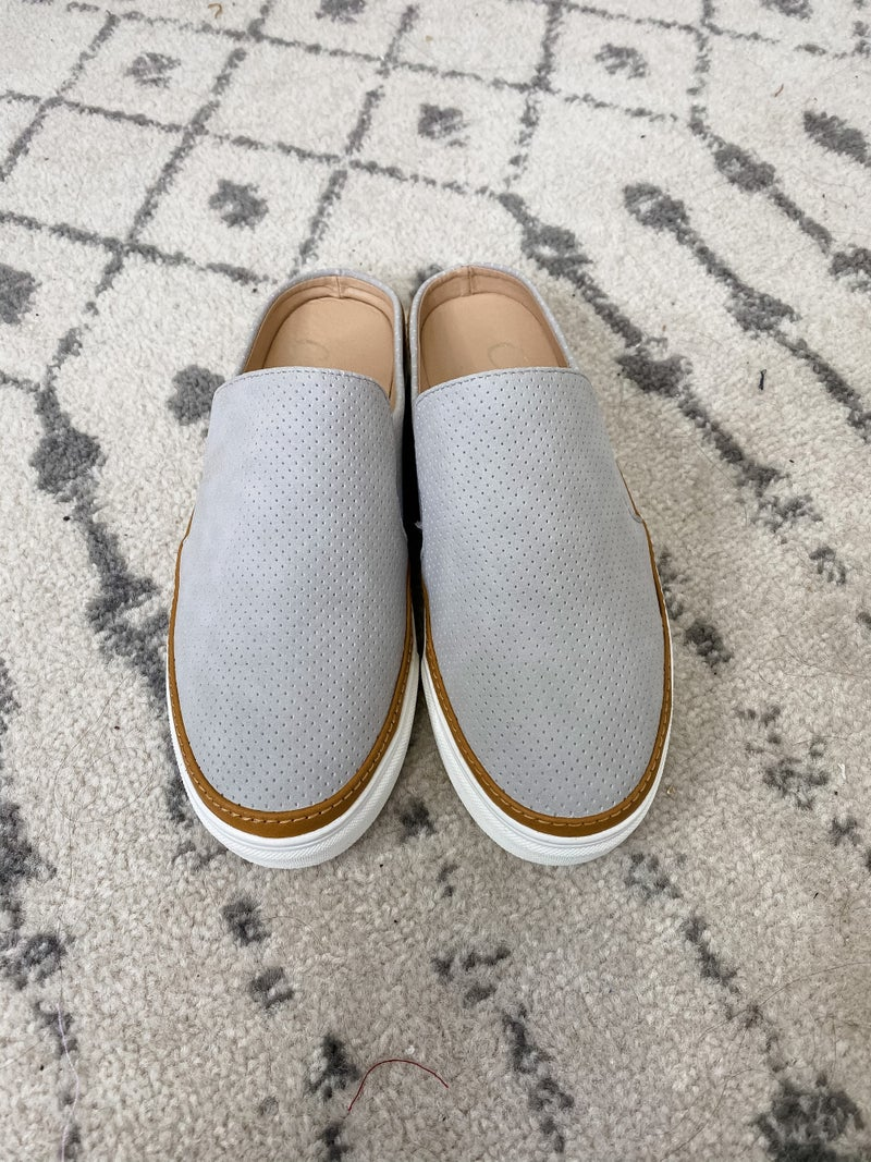 {Backless Slip On Sneakers}
