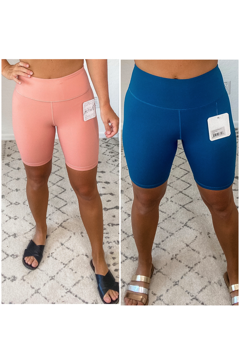 {High Waisted Biker Shorts} *Final Sale*