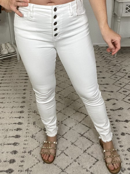 {High Rise White Jeans}