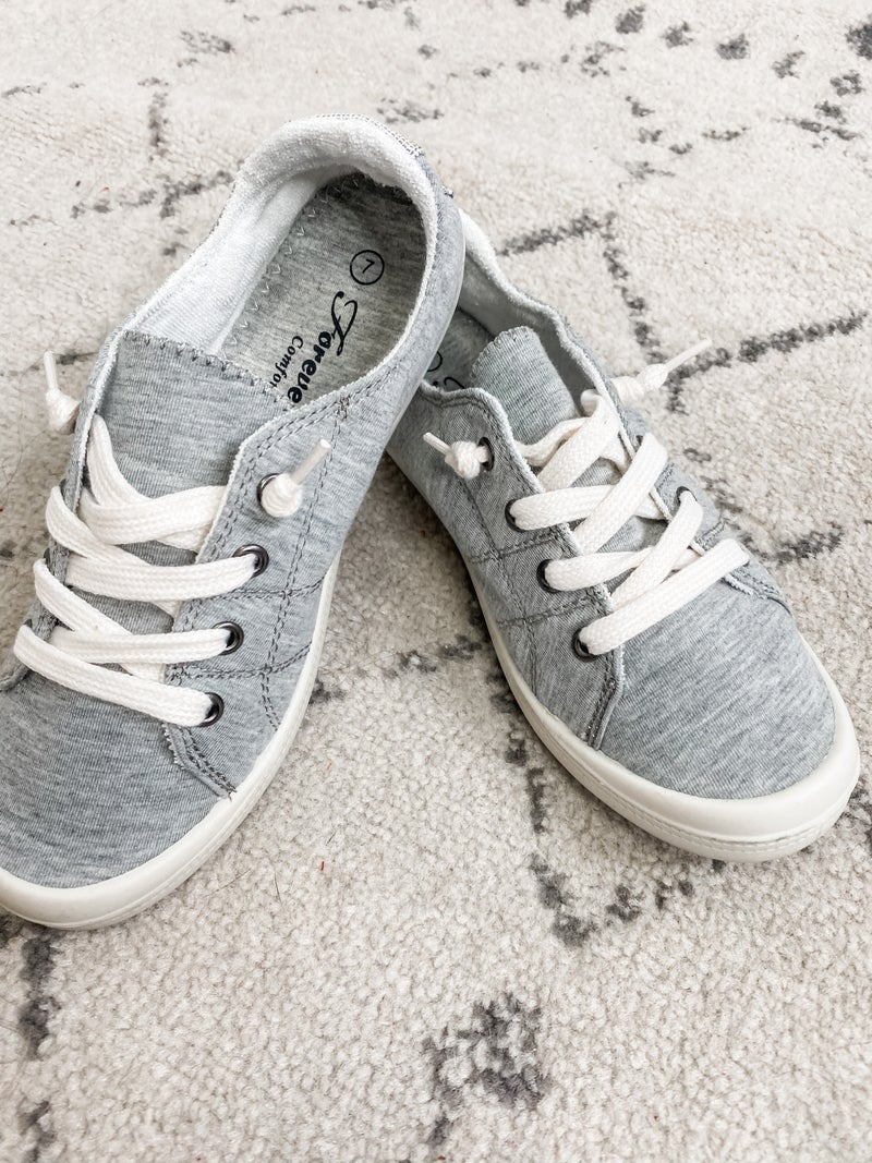 {Grey Slip On Sneaker}