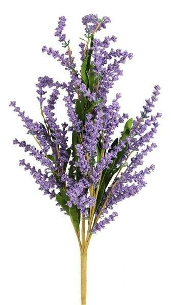 "23""L Mini Bead Spike/Lavender Leaf Bush"