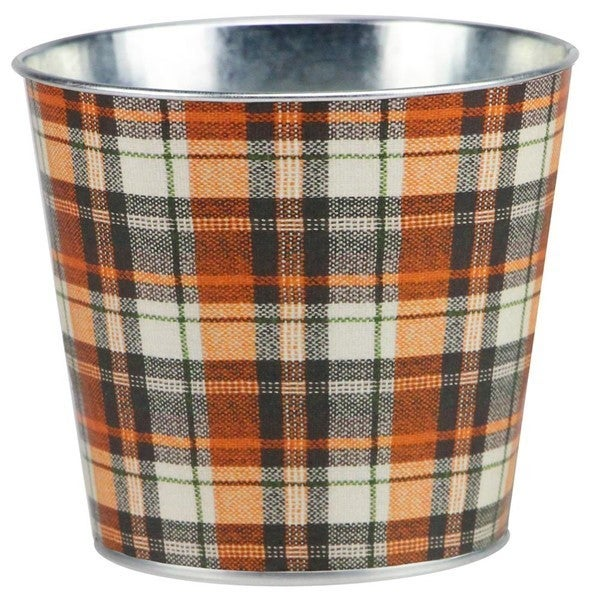 "5""Diax4.5""H Tartan Plaid,WaterproofColor: Cream/Orange/Brown/Moss"