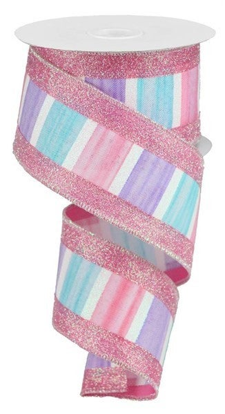 """2.5""""X10yd 3-In-1 Watercolor/Glitter Color: Blue/Pink/Lav/White"""