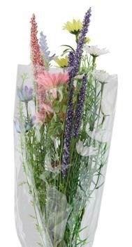 "24""L Fabric/Bead Wild Flower Bouquet Pink/Yell/Wht/Lt Blue/Lav"