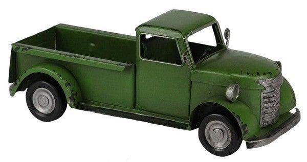 """10""""L X 4""""H Metal Truck Green"""