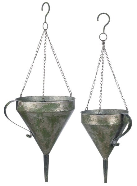 FUNNEL HANGING PLANTER Set 2
