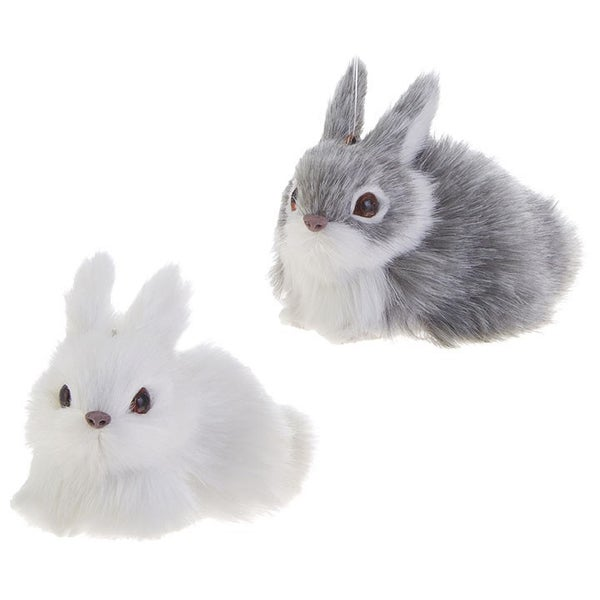 "3.5"" BUNNY ORNAMENT (Grey/White)"