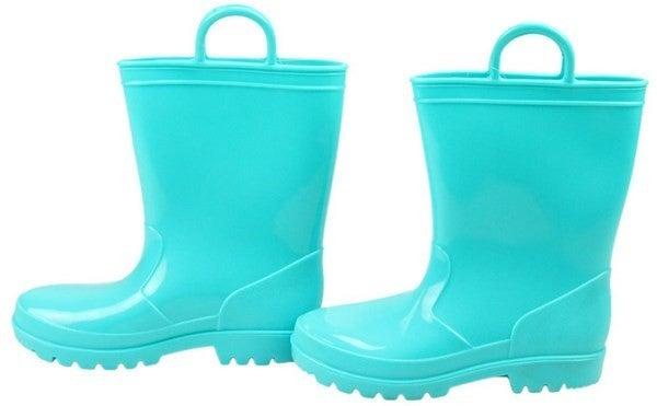 Pvc Rain Boots W/Loops -  Aqua