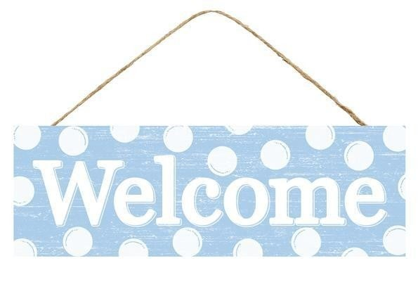 """15""""L X 5""""H Welcome W/Dots Sign"""