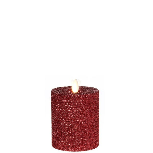 "3.25""X4"" Moving Flame Red Glittered Honeycomb Pill"
