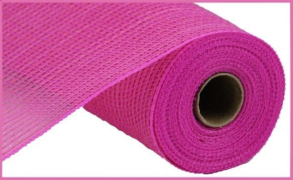 """10.5""""X10yd Faux Jute/Pp Stripe Hot pink"""