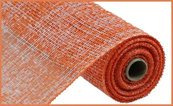 "10""X10yd Two-Tone Poly Burlap Mesh Orange/White"