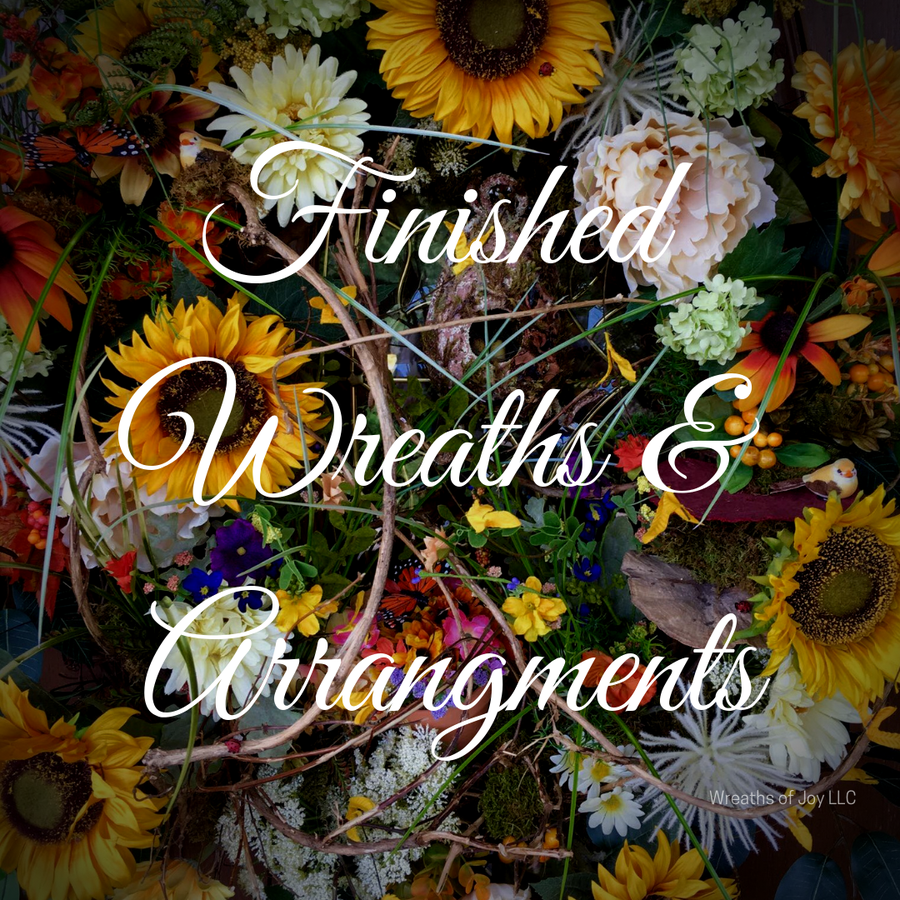 Finished Wreaths and Arrangements
