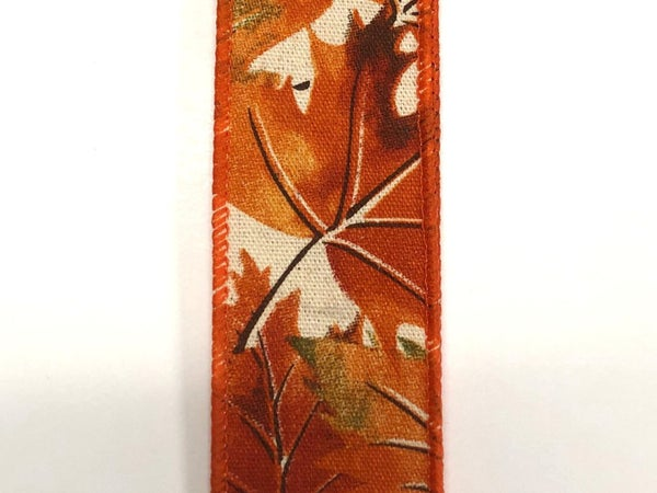 "Ivory Canvas/Fall Leaves 1.5""x10yd"