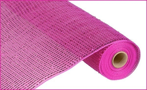 "21""X10YD DELUXE WIDE FOIL MESH Color: Hot Pink W/Hot Pink Foil"