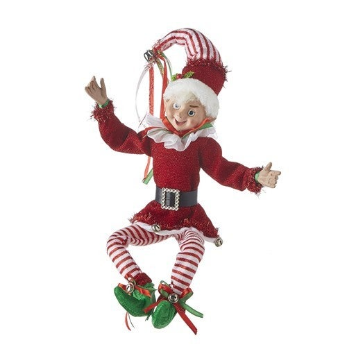 """Country Christmas 16"""" POSABLE ELF"""