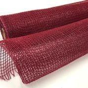"""Burgundy Fabric Mesh 21""""x10yd"""
