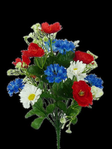 Poppy Corn Flower Daisy Bush X 18 H17