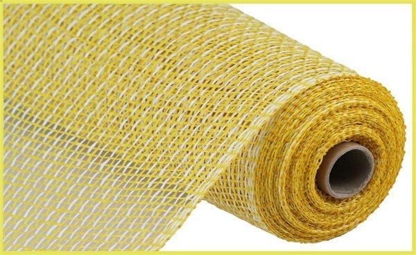 "10""X10yd Multi Poly Burlap Mesh Yellow/White"
