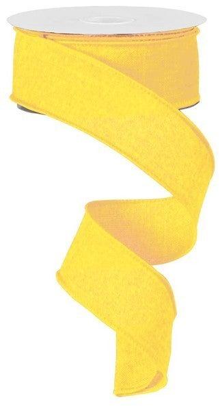 "1.5""X10yd Royal Burlap Yellow"