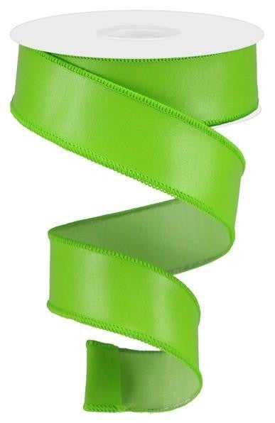 "1.5""X10yd Faux Leather Lime Green"