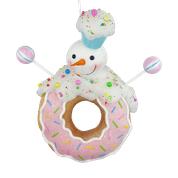 Orn Snowman On Donut D5xW17xH17