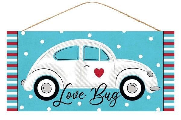 "12.5""L X 6""H Love Bug/Car Sign"