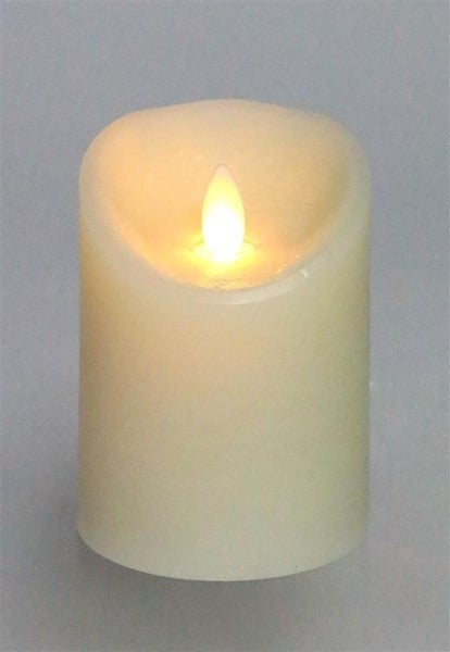 "3""Dia X 4""H R/C Flameless Candle W/Timer Ivory"