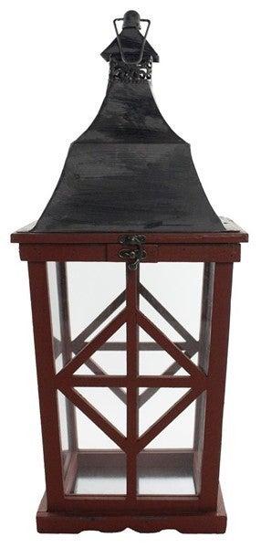 "20.5""Oah Lantern Antique Red"