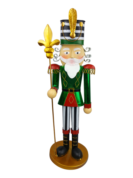Decor Metal Nutcracker D7xW7xH22