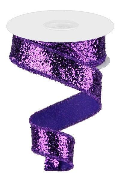 "1.5""X10yd Large Glitter Purple"