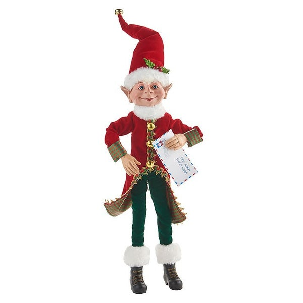 "18"" Posable Elf with Letter 4002316"